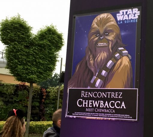 Star Wars Soiree special signage for Chewbacca