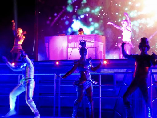 """Buzz Lightyear"" dancers at the Star Wars Soiree"